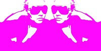 Niki Mirror Pink Framed Print