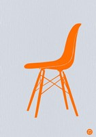 Orange Eames Chair Fine Art Print