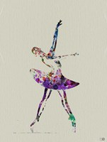 Ballerina Watercolor 4A Framed Print