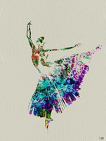 Ballerina Watercolor 5 Framed Print