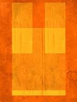 Orange Paper 1 Framed Print
