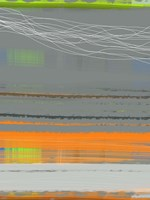 Abstract Orange Stripe1 Framed Print