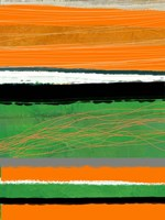 Orange and Green Abstract 2 Framed Print