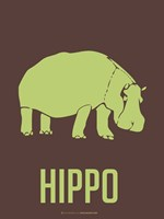 Hippo Green Framed Print