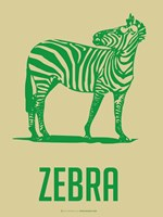 Zebra Green 2 Framed Print
