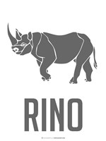 Rino Black Framed Print