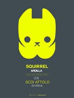 Yellow Squirrel Multilingual Fine Art Print