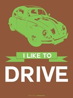 I Like to Drive Beetle 2 Fine Art Print