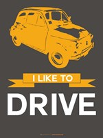 I Like to Drive Beetle 7 Fine Art Print