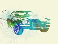 Chevy Camaro Watercolor Fine Art Print