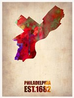 Philadelphia Watercolor Map Fine Art Print