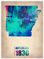 Arkansas Watercolor Map Fine Art Print