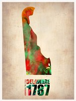 Delaware Watercolor Map Fine Art Print