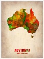 Australia Watercolor Map Fine Art Print