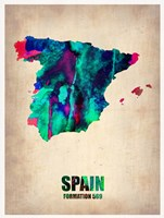 Spain Watercolor Map Fine Art Print