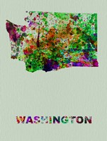 Washington Color Splatter Map Fine Art Print