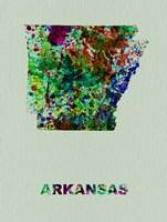 Arkansas Color Splatter Map Fine Art Print