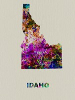 Idaho Color Splatter Map Fine Art Print