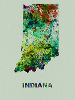 Indiana Color Splatter Map Fine Art Print
