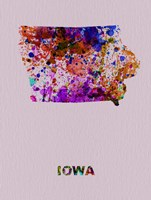 Iowa Color Splatter Map Fine Art Print