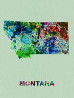 Montana Color Splatter Map Fine Art Print