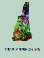 New Hampshire Color Splatter Map Fine Art Print