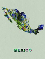Mexico Color Splatter Map Fine Art Print