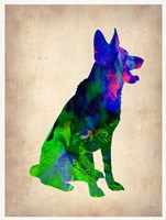 German Sheppard Watercolor Fine Art Print