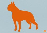 Boston Terrier Orange Fine Art Print
