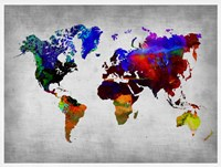 World Watercolor Map 12 Fine Art Print