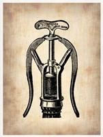 Vintage Wine Opener 1 Framed Print