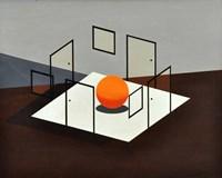 B Orange Fine Art Print