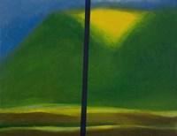 Green Mountain with Yellow Fine Art Print