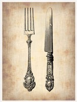 Antique Knife and Fork Fine Art Print