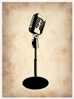 Vintage Microphone Fine Art Print