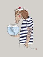 Horse Sailor Fine Art Print