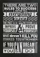 Success Set Black Fine Art Print