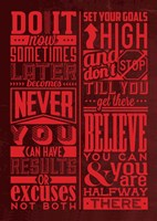 Motivation Set Red Fine Art Print
