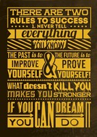 Success Set Yellow Fine Art Print