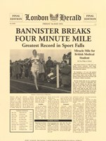 Four Minute Mile Fine Art Print