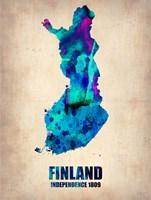Finland Watercolor Fine Art Print