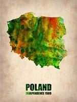 Poland Watercolor Fine Art Print