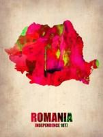 Romania Watercolor Fine Art Print