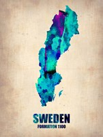 Sweden Watercolor Fine Art Print