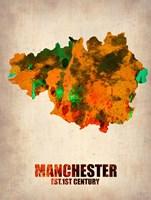 Manchester Watercolor Fine Art Print