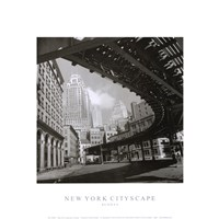 New York Cityscape, Sunday Framed Print