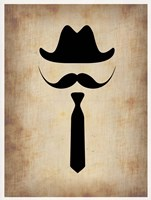 Hat Glasses and Mustache 2 Fine Art Print