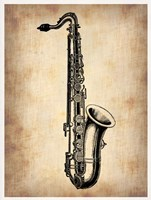 Vintage Saxophone Fine Art Print
