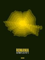 Romania Radiant Map 2 Fine Art Print
