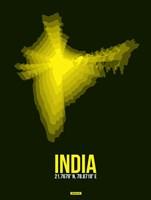 India Radiant Map 3 Fine Art Print